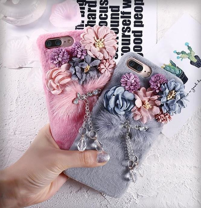 Plush Flower Phone Case - Phone Case