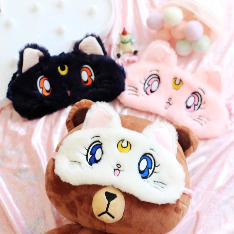 Plush Kitten Sleep Mask - artemis, blindfold, blindfolds, cats, face mask