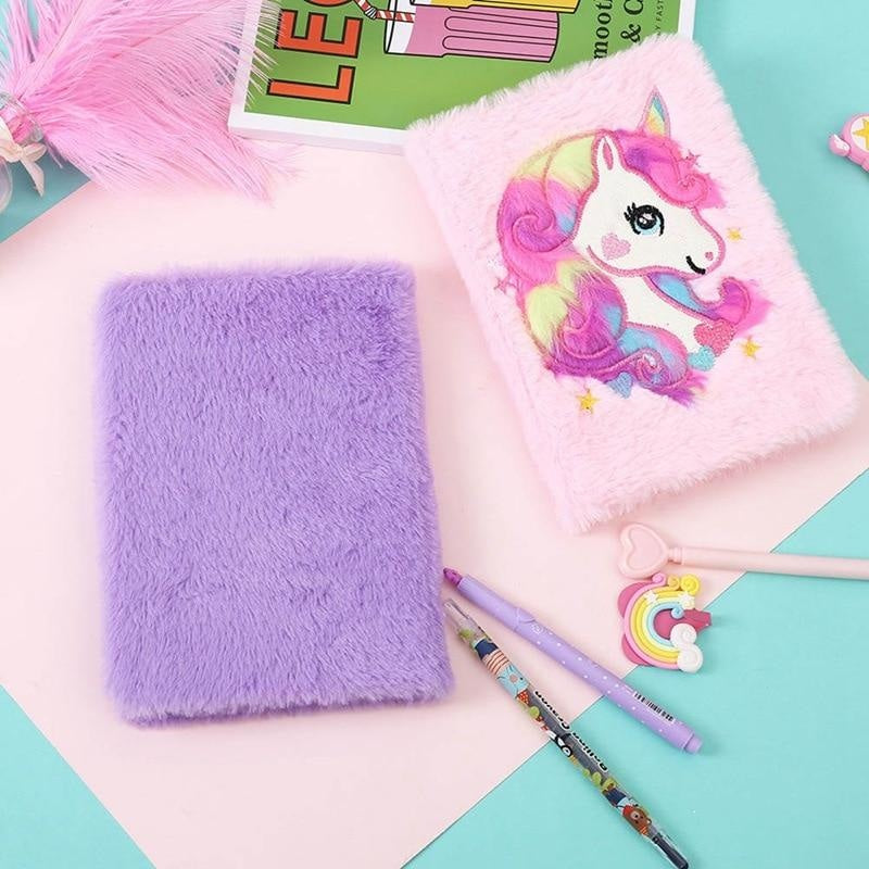 Plush Unicorn Diary - journal
