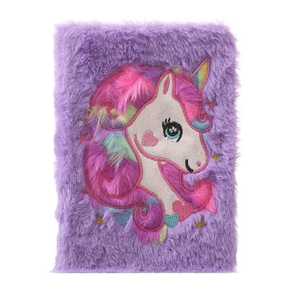 Plush Unicorn Diary - Purple - journal