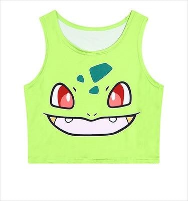 Pocket Monster Crop Tops - shirt