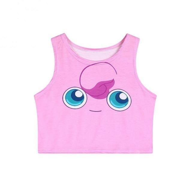 Pocket Monster Crop Tops - Happy Jigglypuff - shirt