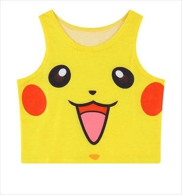 Pocket Monster Crop Tops - Pikachu - shirt