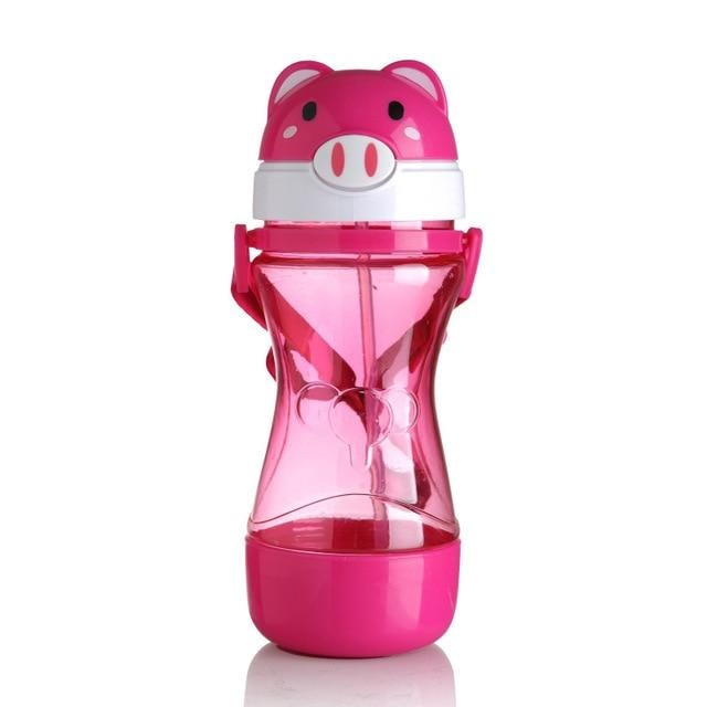 Kawaii Pink Pig Pop Top Animal Sippy Cups Baby Water Bottles ABDL CGL Ageplay  by DDLG Playground