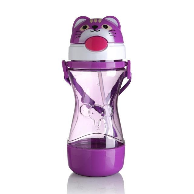Kawaii Purple Pop Top Animal Sippy Cups Baby Water Bottles ABDL CGL Ageplay  by DDLG Playground