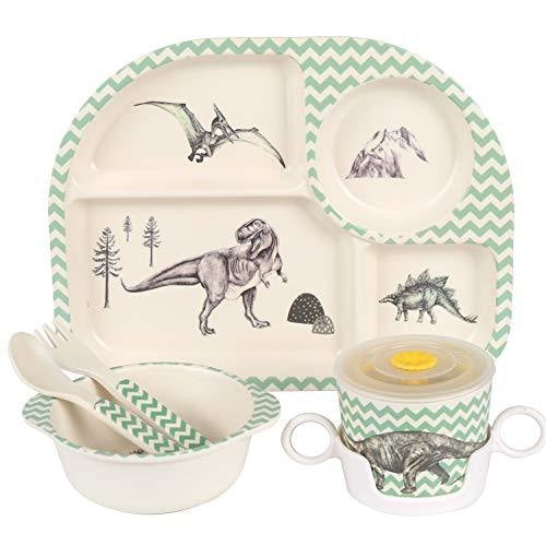 Prehistoric Dinner Set - bamboo, bowl, bowls, bpa free, cartoon