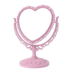 Pink Pastel Heart Make-Up Mirror Cosmetic Dual Sided Kawaii Fairy Kei