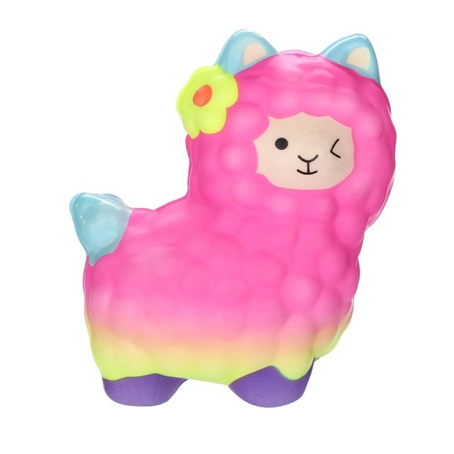 Squishy Rainbow Alpaca