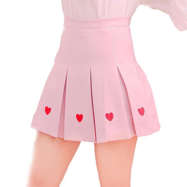Pleated Heart Skirt