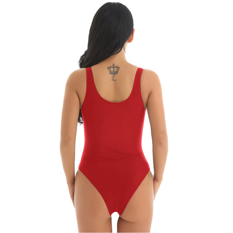Red Yes Daddy Swimsuit One Piece Swimwear Bikini Monokini ABDL Ageplay Kinky Fetish