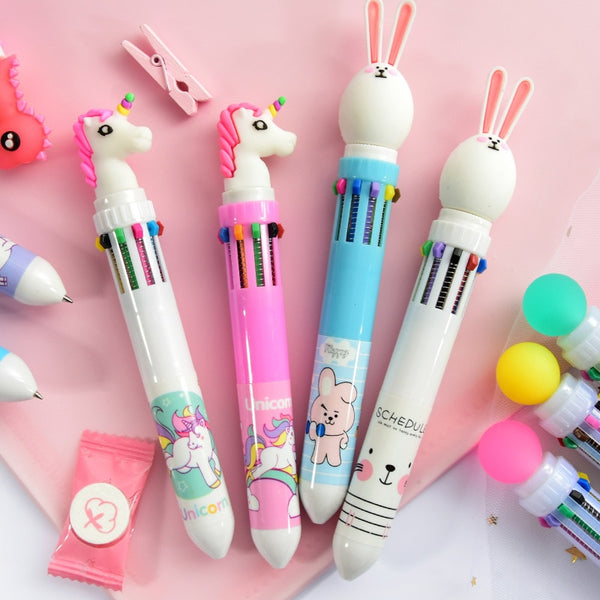 Multicolored Kawaii Pens