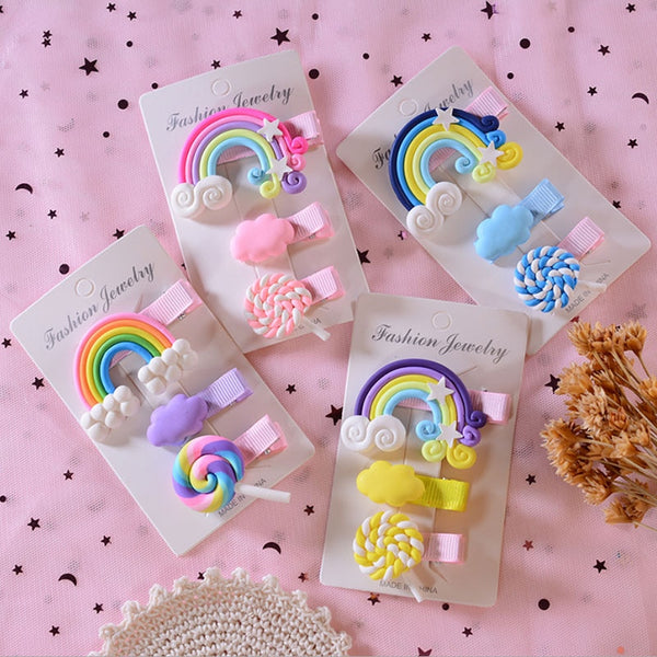 Candy Rainbow Hair Clips