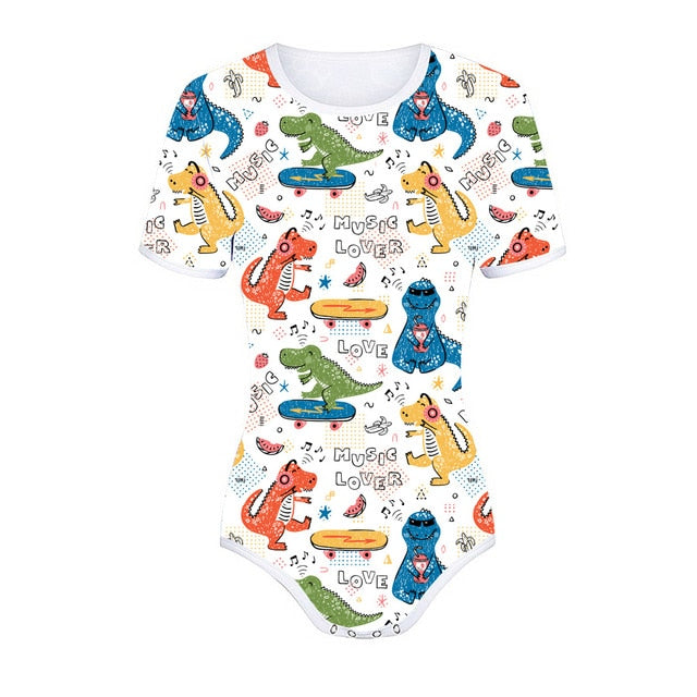 Music Lover Dino Onesie