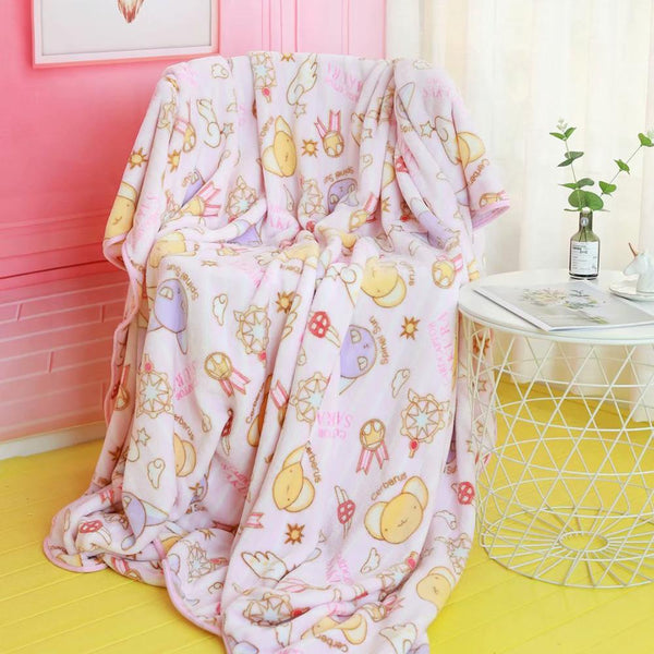 Magical Girl Fuzzy Blanket Set