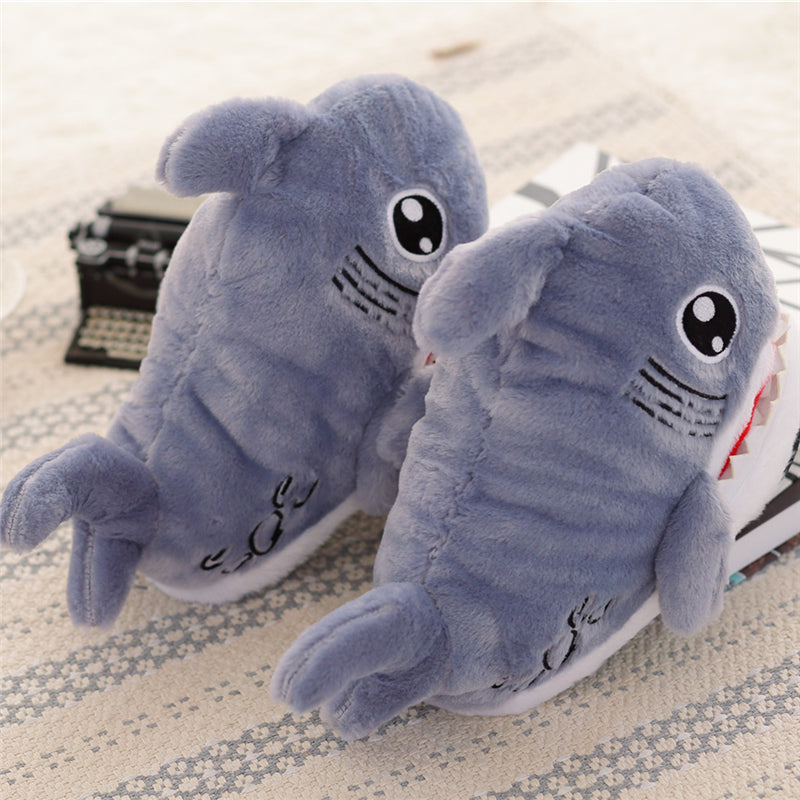 Baby Shark Slippers Plush Soft Jaws Open Mouth Cute