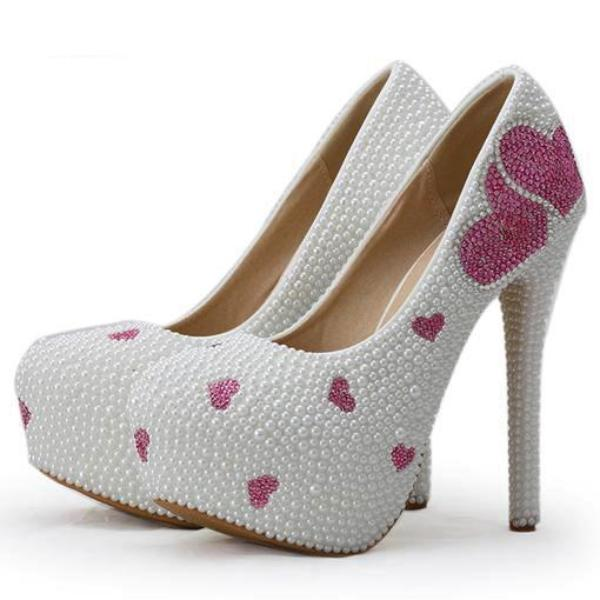Pearlized Sweetheart Pumps