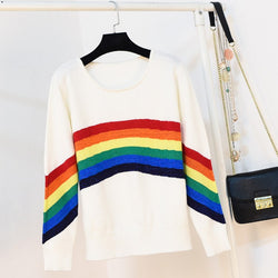 Rainbow Knit Pullover