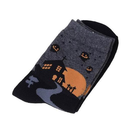 Spooky Halloween Socks Creepy Cute Trick or Treat Witch