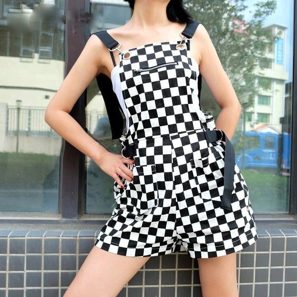 Checkerboard Jumpsuit