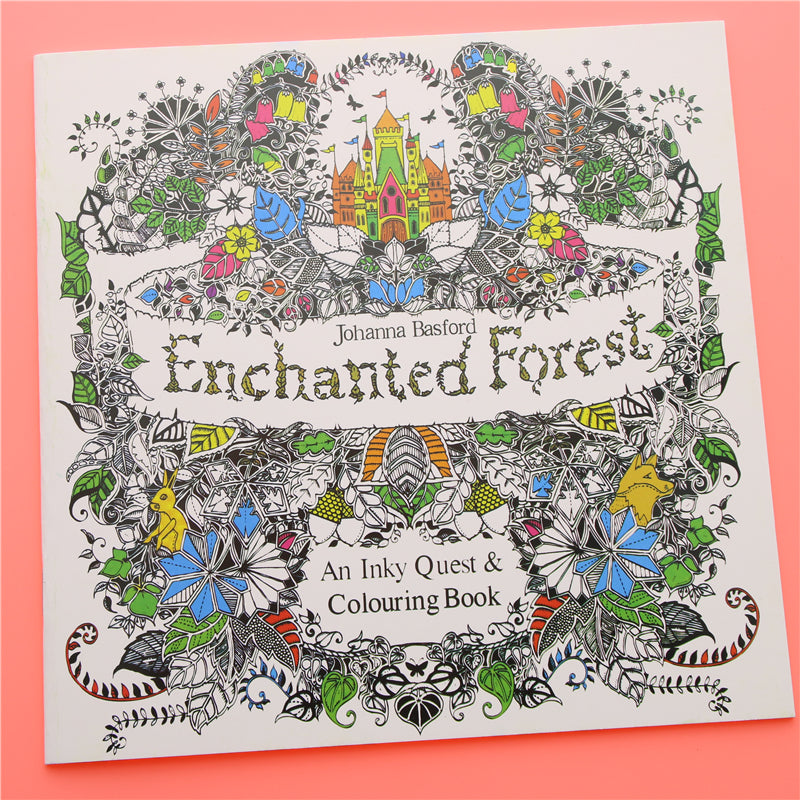 Enchanted Forest Adult Coloring Book Stress Relief Therapy Adult Baby ABDL Ageplay by DDLG Playground