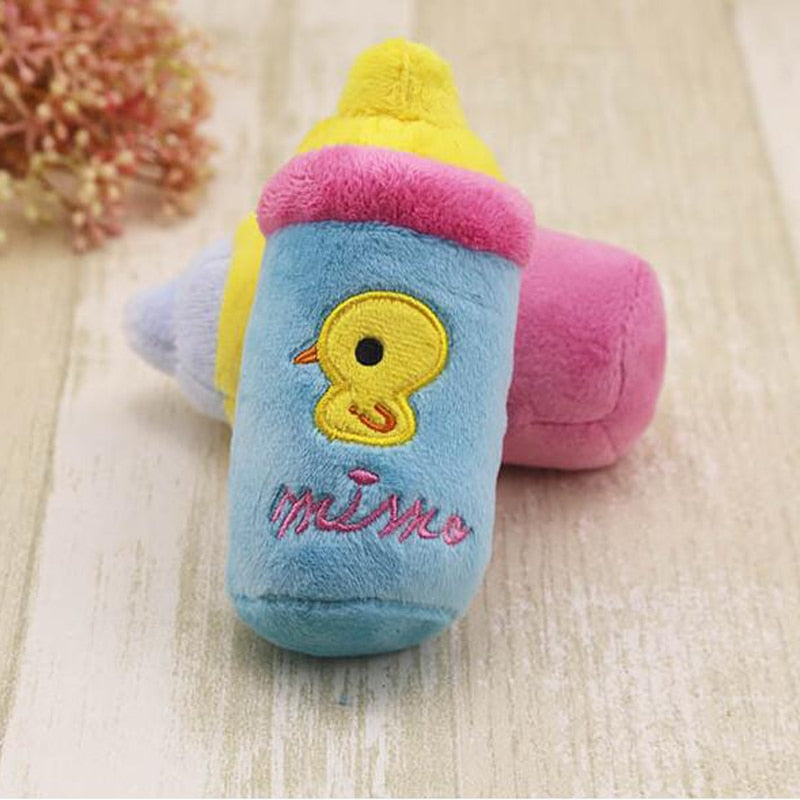 Kawaii Baby Bottle Plush Toy Stuffed Plushies  Baby Duck Theme
