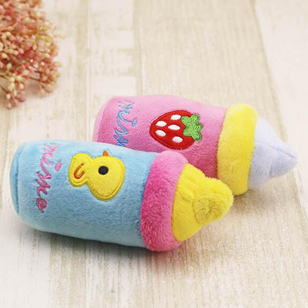 Kawaii Baby Bottle Plush Toy Stuffed Plushies Cute Strawberry or Baby Duck Theme