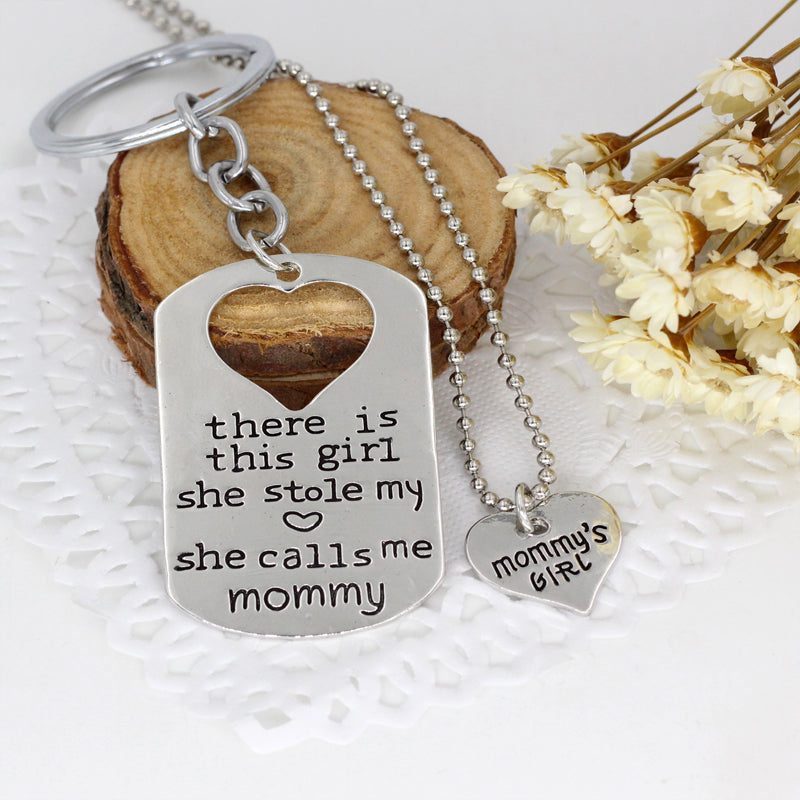 Mommy's Girl Keychain Set