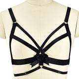 Sexy Satin Black Harness Bondage Lingerie Set S&M Kink Fetish by DDLG  Playground