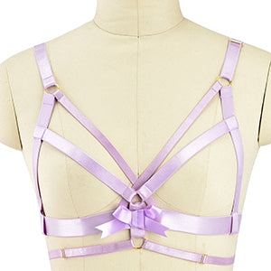 Sexy Satin Pink Harness Bondage Lingerie Set S&M Kink Fetish by DDLG  Playground