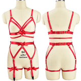 Sexy Satin Red Harness Bondage Lingerie Set S&M Kink Fetish by DDLG  Playground