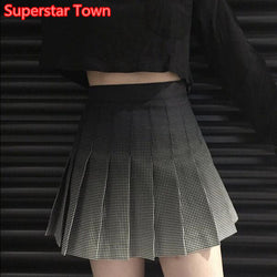 Ombre Black Tennis Skirt