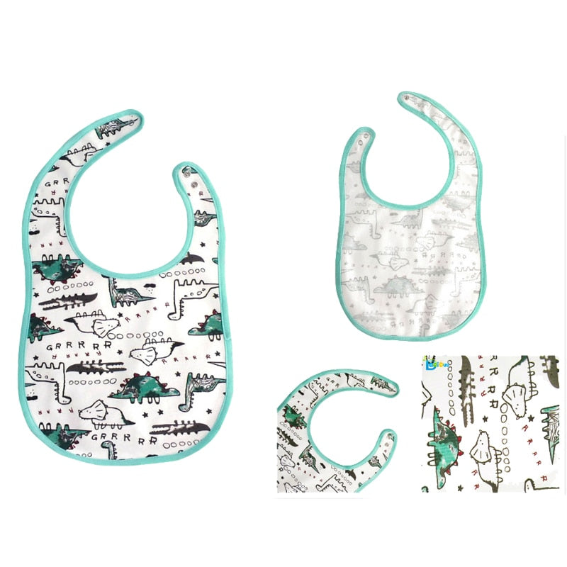 White Green Dinosaur Adult baby Bib Large Size ABDL CGL Kink Fetish by DDLG Playground