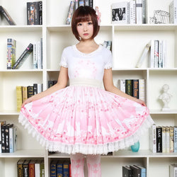 Cherry Blossom Kitten Lolita Skirt