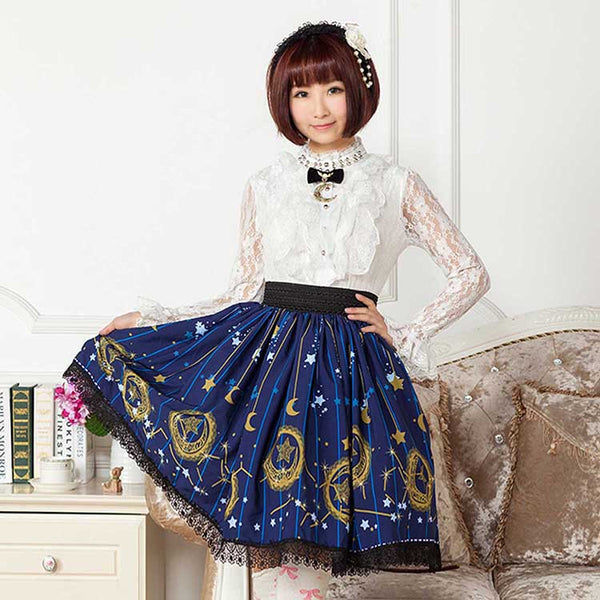 Midnight Astrology Lolita Skirt