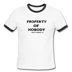 Property Of Nobody Tee - S - shirt