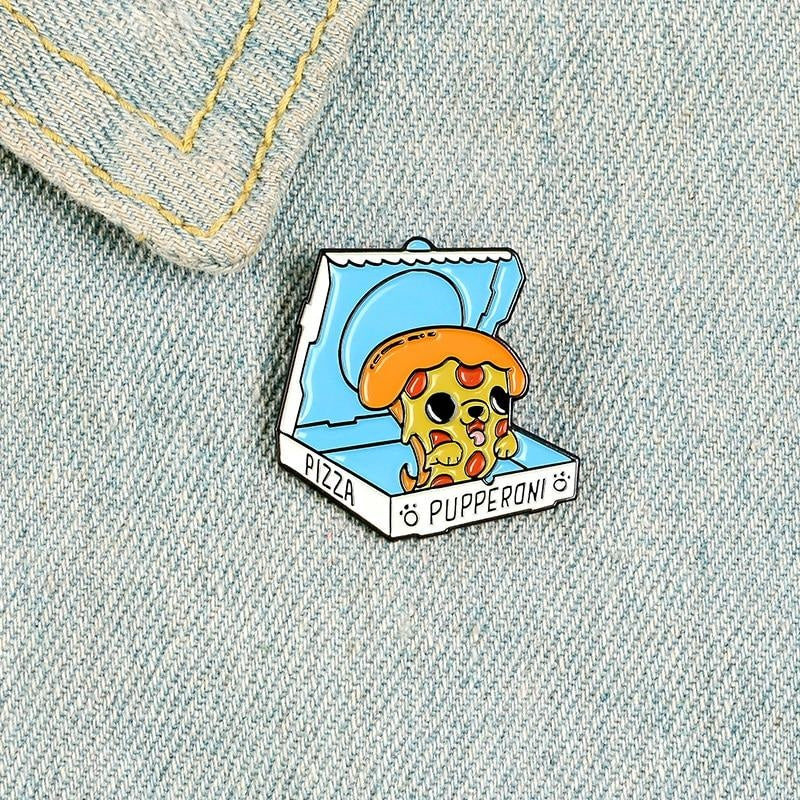 Pupperoni Pizza Enamel Pin - enamel pin