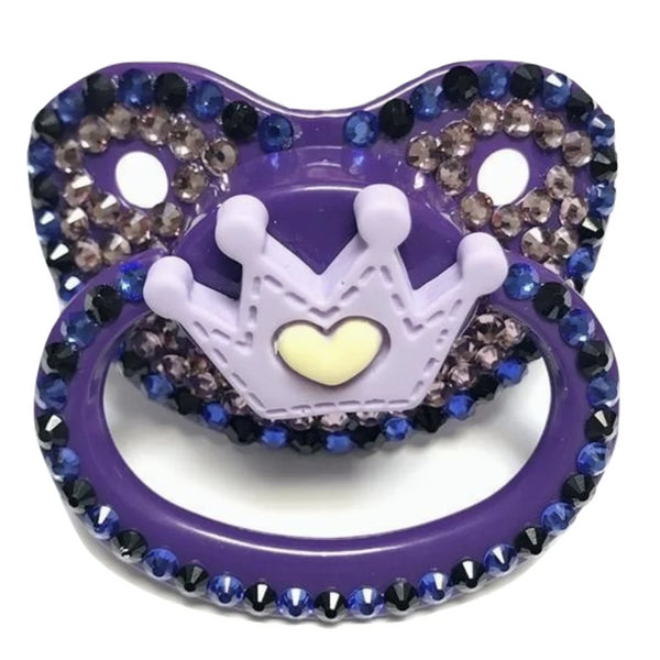 Purple Princess Deco Pacifier - pacifier