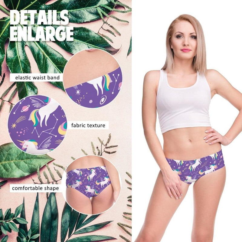 Purple Unicorn Panties - underwear