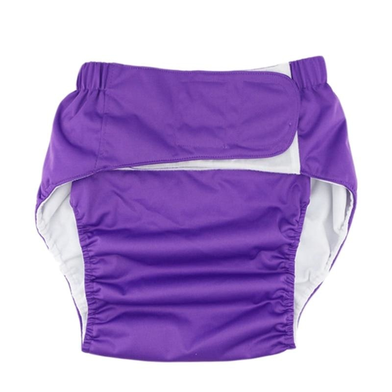 Purple Velcro Diaper - diaper