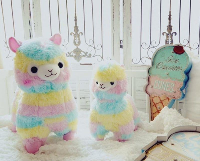 Rainbow Alpaca Plush - 45cm - stuffed animal