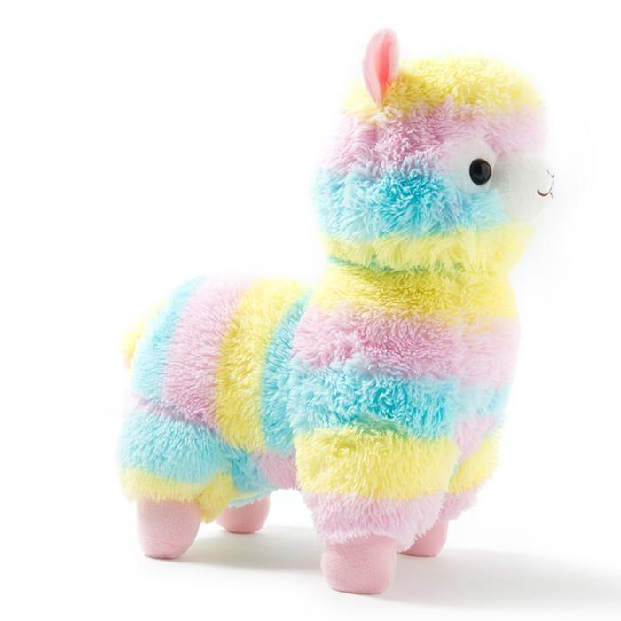 rainbow alpaca plush toy stuffed animal fairy kei kawaii plushies stuffies alpacasso by ddlg playground