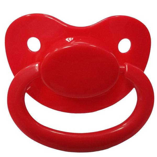 red adult pacifier paci binkie soother mouth guard nipple autism autistic little space ddlg cgl abdl cglre age regression agere