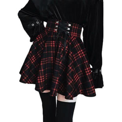 Red Plaid Skirt (Up to 5XL) - skirt