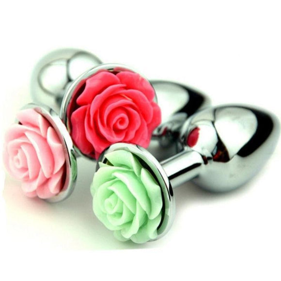 Rose Bud Butt Plugs Anal Sex Toy Beads Flowers BDSM Kink Fetish by DDLG Playground
