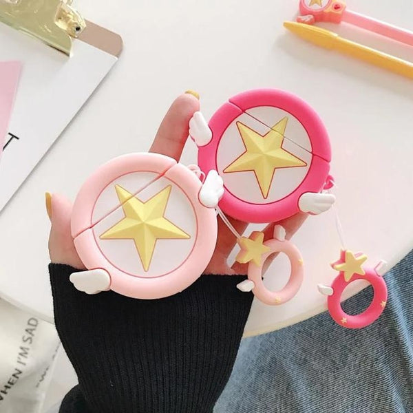 Card Captor Sakura Apple Airpod Case 3D Star Mahou Shoujo Magical Girl Air Pods Kawaii