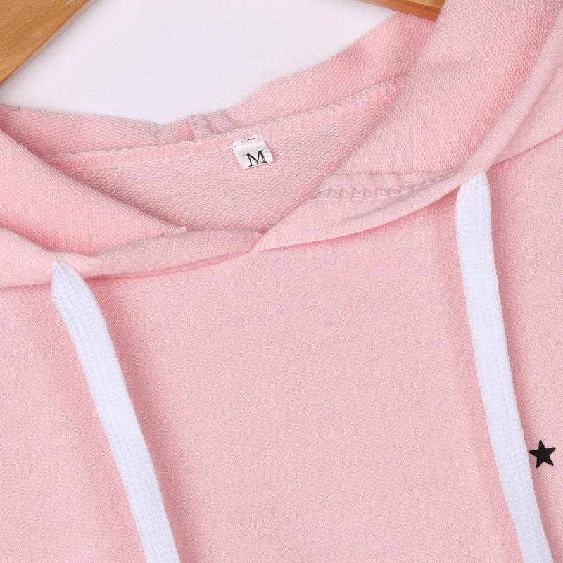 Pink Saturn Hoodie Pullover Sweatshirt Planets Outer Space Kawaii Fashion