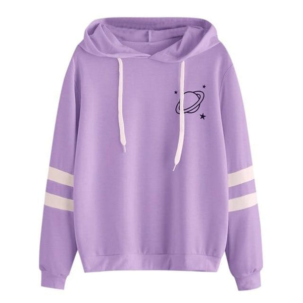 Saturn Hoodie - Purple / S - sweater