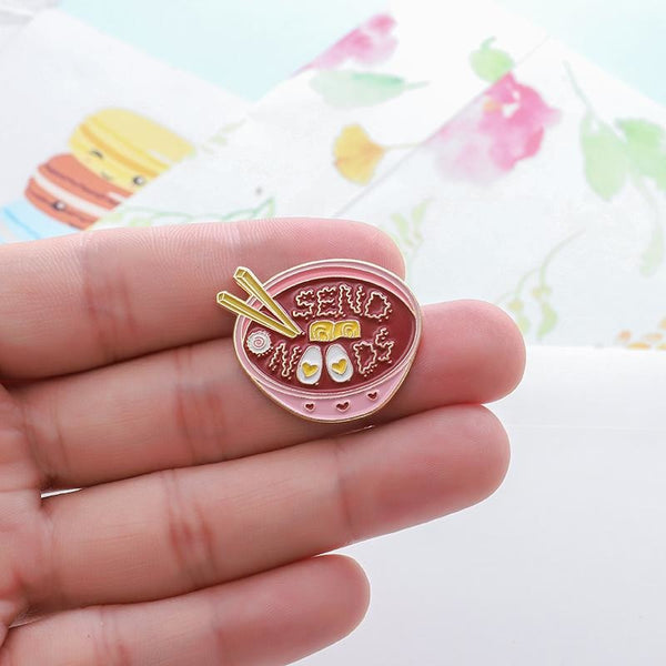 Send Noods Enamel Pin - pin