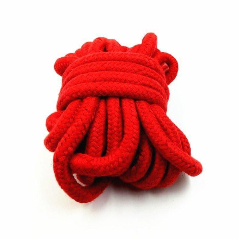 Red Shibari Bondage Rope Tie Restraint Comfortable Cotton Kinky Fetish BDSM by DDLG Playground