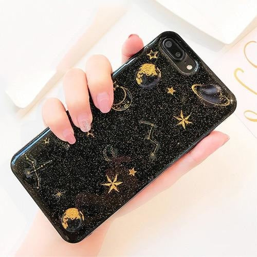 Shimmering Space iPhone Case - For iPhone 7 / Black - phone case